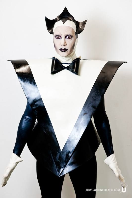 Le Pustra as Klaus Nomi Costume by Am Statik Latex Image by Paul Green for www.weareunlikeyou.com