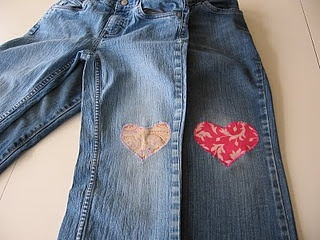 Cute patches for jeans with holes in the knees