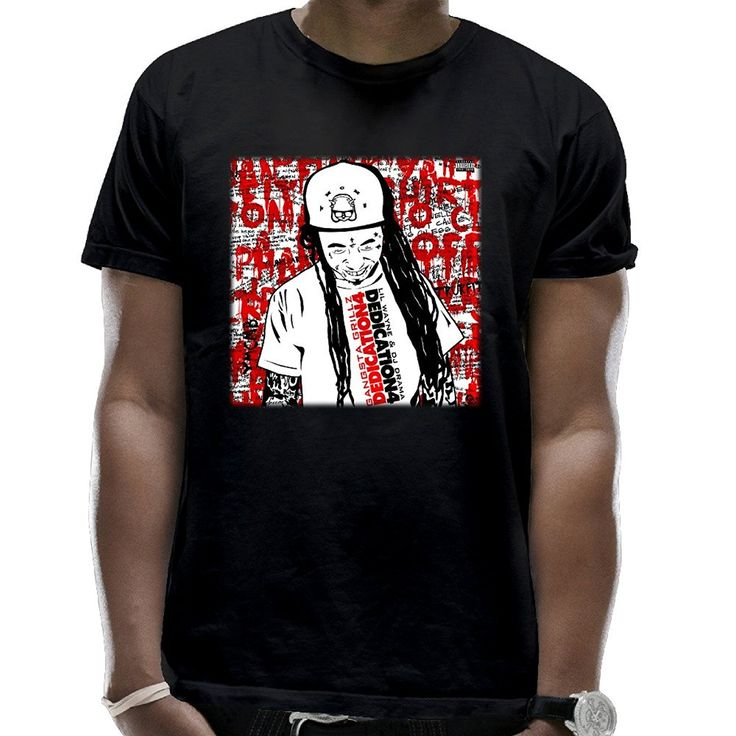 Printed  T Shirt 2017 Fashion Brand T-Shirt   Design Basic Top Men's Lil Wayne Dedication 4 Cover Art Cotton T-Shirt