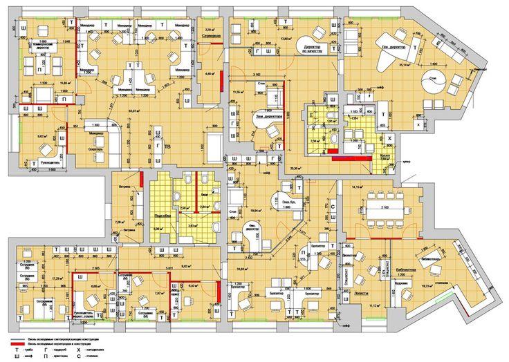 План расстановки мебели и оборудования в офисе