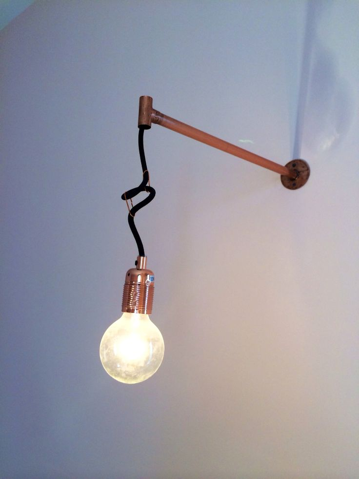 Homemade Wall Lamp : DIY wall lamp DIY Pinterest Diy wall, Lamps and Wall lamps