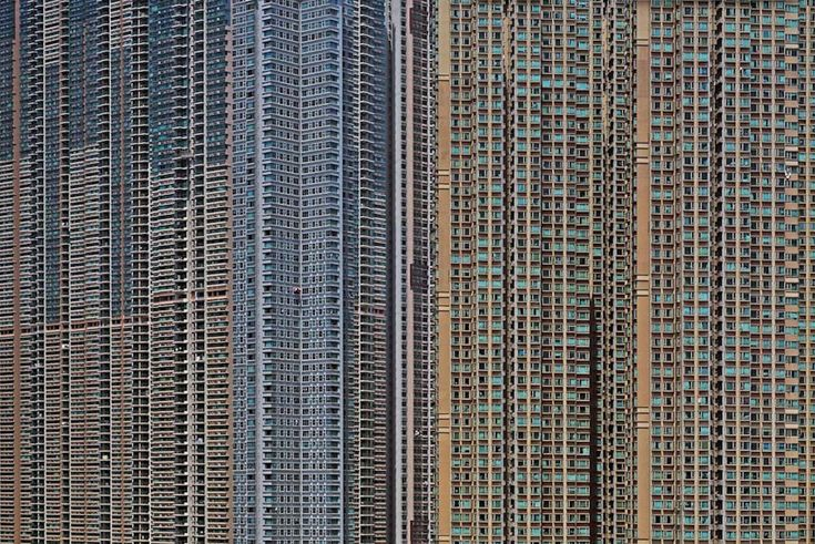 An example of Michael Wolf's Hong Kong photography. Look it up.