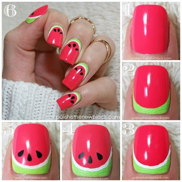 Watermelon Nail Art Tutorial