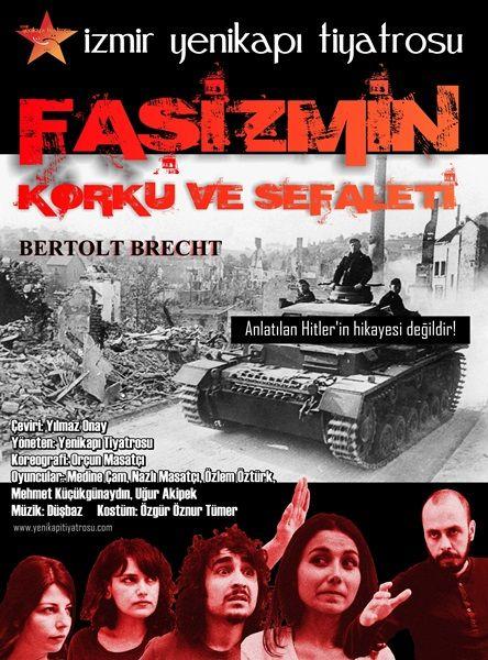 """Nisan 2013 - Yenikapı Tiyatrosu'nun """"Faşizmin Korku ve Sefaleti"""" oyunu için tasarladığım afiş."""
