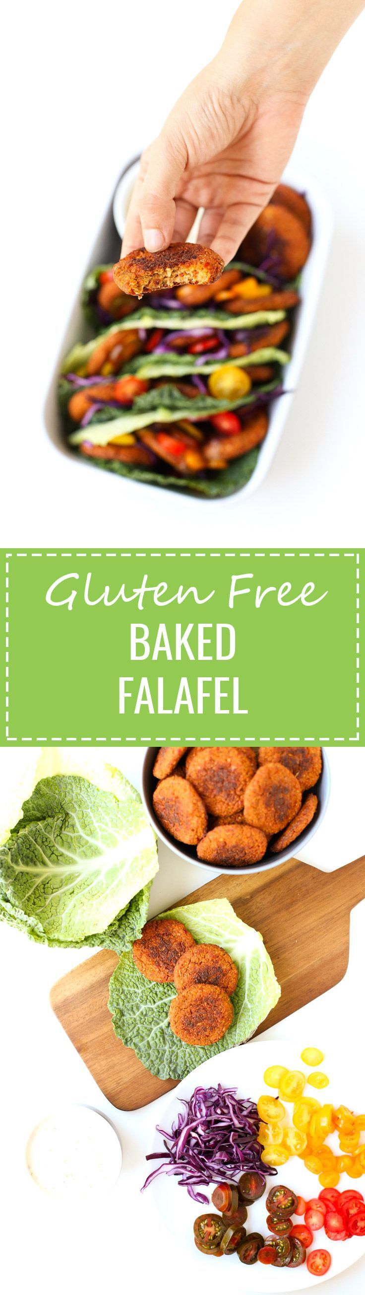 Gluten Free Baked Falafel - I'm in love with this gluten-free baked falafel, it's so delicious! I usually serve it with raw veggies and homemade vegan yogurt sauce.