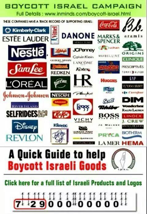 mari perhatikan belanjaan anda bijak dalam berbelanja, ingat dengan belanja anda menyumbang 1 peluru kematian buat anak anak di gaza Boycott Israel !!!!