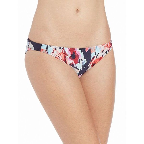 Kate Spade New York Women's Colombe D'or Floral Bikini Bottom ($19) ❤ liked on Polyvore featuring swimwear, bikinis, bikini bottoms, blue, floral two piece, bottom bikini, colorful swimwear, blue bikini and floral swimwear