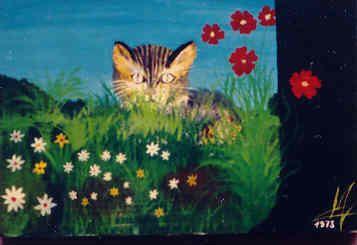 Pour le rendez-vous #chat en #peinture du #Blog #GymYoga: Minouchette de Maryse Girard http://blog.gym-yoga.fr/minouchette-de-maryse-girard/