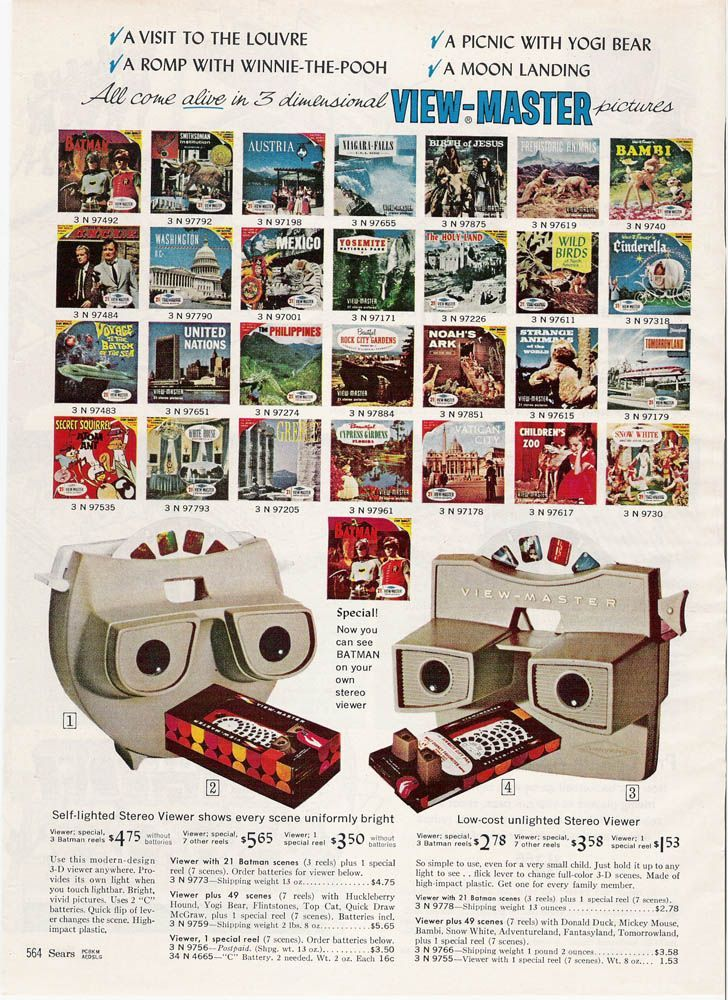 1965 Sears Christmas Catalog   Viewmaster from the Sears Christmas Wishbook, 1965.
