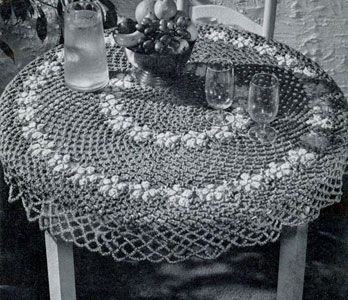 Items Similar To Round Table Cloth Vintage Crochet Pattern With Free Gift !  (Priscilla Crocheting Book On Doilies And Centerpieces) On Etsy