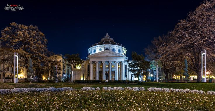 The Bucharest Athenaeum at night. Copyright: fotobooks.ro, by tudor NICULAESCU
