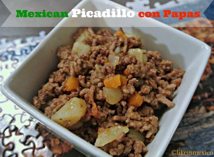 Mexican Picadillo con Papas - likeinmexico