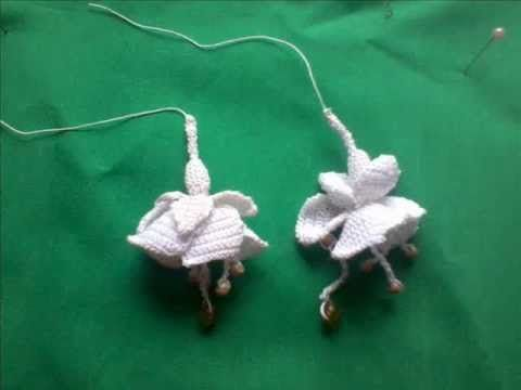 How to make a Fuchsia in Irish Crochet Lace - YouTube