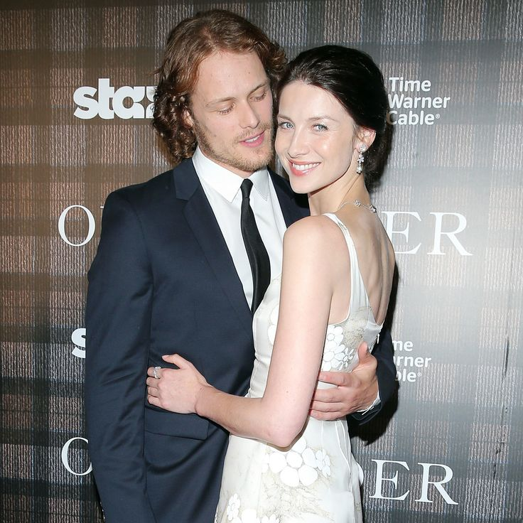 Sam Heughan and Caitriona Balfe Discuss Auditions and Difficult Scenes with #POPSUGAR