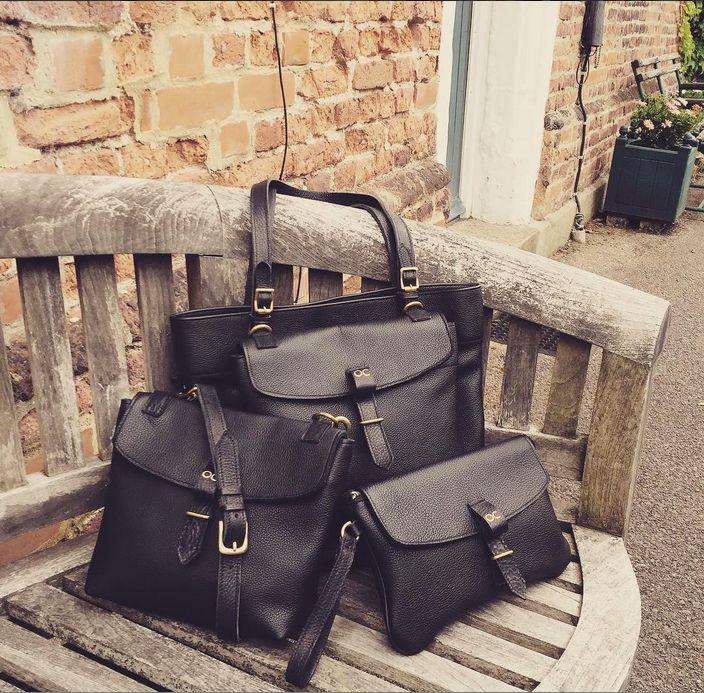 Olive Cooper Regent Collection - Our Classics - Black Leather Handbag