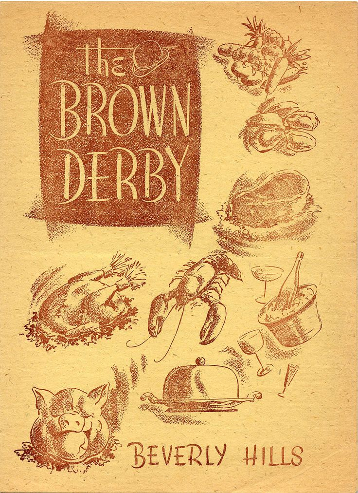 wish i could get a reproduction of this for my mom, my grandpa was the maitre de of the brown derby in the '50s. (The Brown Derby 1947)