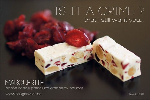 Cranberry Premium Nougat with dried Cranberry slices inside and roasted Almond www.nougatworld.net 021 33733688-89 081381122228 PIN BB 2633C2A8