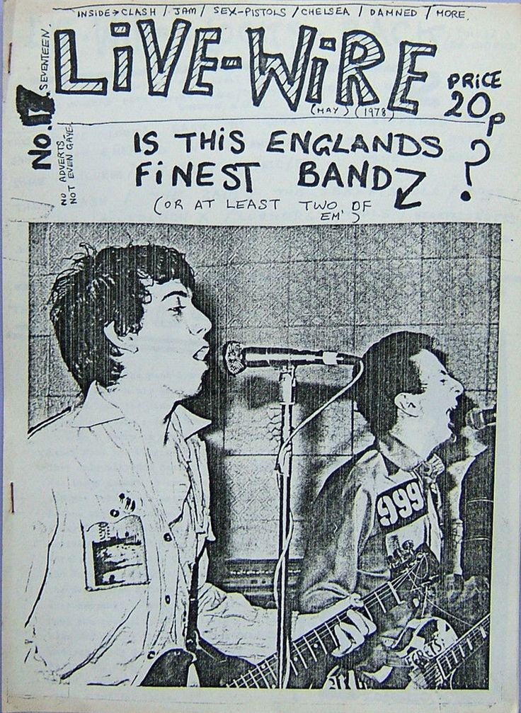 LIVE-WIRE No.17 May 1978 Original Punk Fanzine