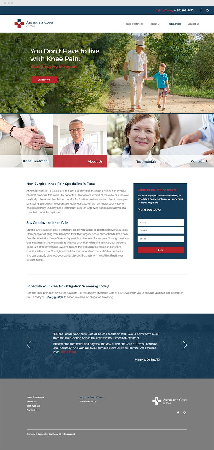Arthritis Care of Texas Responsive Web Design #webdesign #epicmarketing #marketing #responsive #graphicdesign