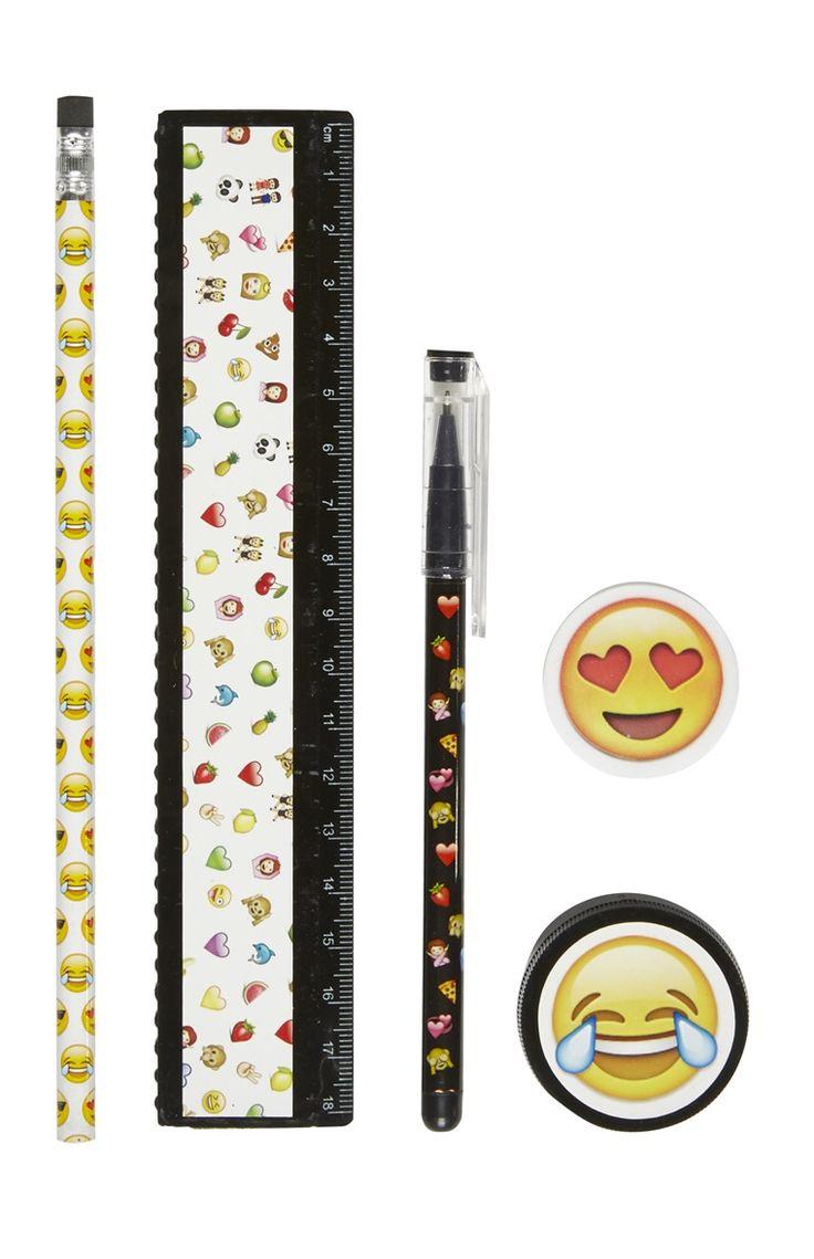 Kit d'accessoires de papeterie smileys