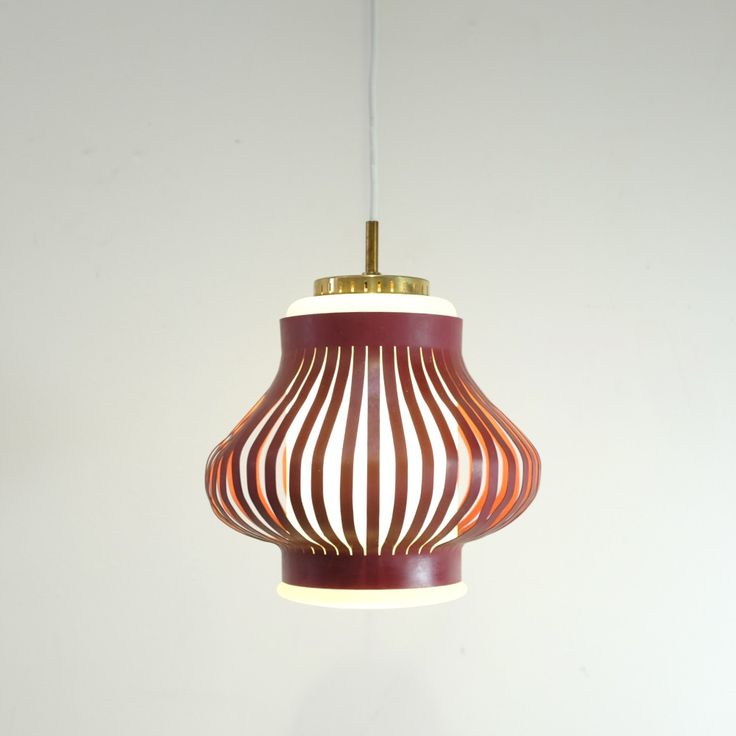 Glass and Metal Pendant Lamp by Svend Aage Holm Sørensen