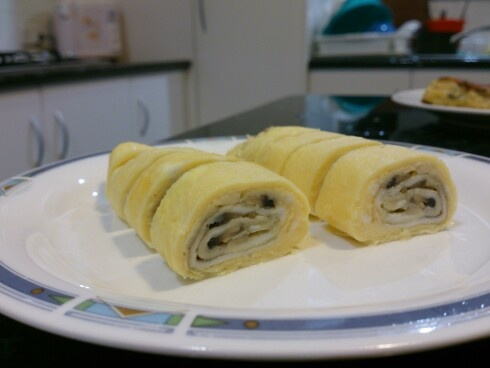 #eggroll with button mushroom filling. #food #japanesecuisine