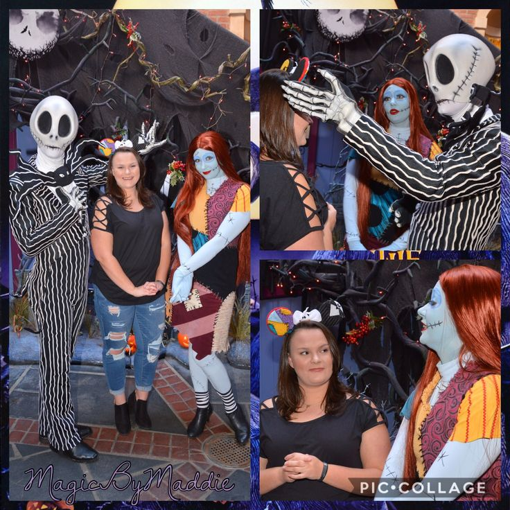 Nightmare before Christmas Mickey ears with Jack and Sally -MagicByMaddie Model credit: Riley Symonds