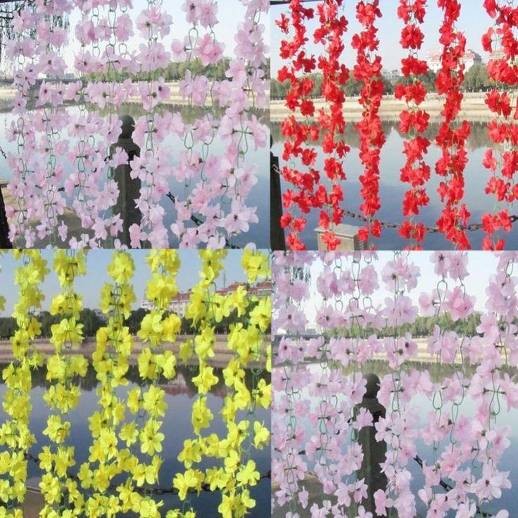 Goedkope Kleur bruiloft home decor kunstmatige nep azalea bloem wijnstok planten guirlande 2Mu stylen, koop Kwaliteit Decoratieve bloemen& kransen rechtstreeks van Leveranciers van China: Beschrijving: Noot: kies je wilt en laat je kleur selectie op uw bestelling, of wij sturen het willekeurig! Dankzi