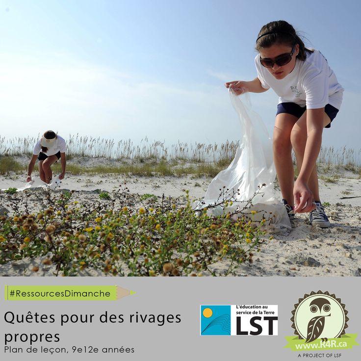Cette semaine, pour #RessourcesDimanche de #R4R.ca, invitez vos élèves à passer à l'action en ce qui a trait au littoral et aux déchets qui l'encombrent. Les élèves étudient les raisons de l'abondance de déchets le long du littoral et déterminent les sources de déchets les plus problématiques, et ils prendront action pour la réduction d'une de ces sources de déchets, d'année en année.
