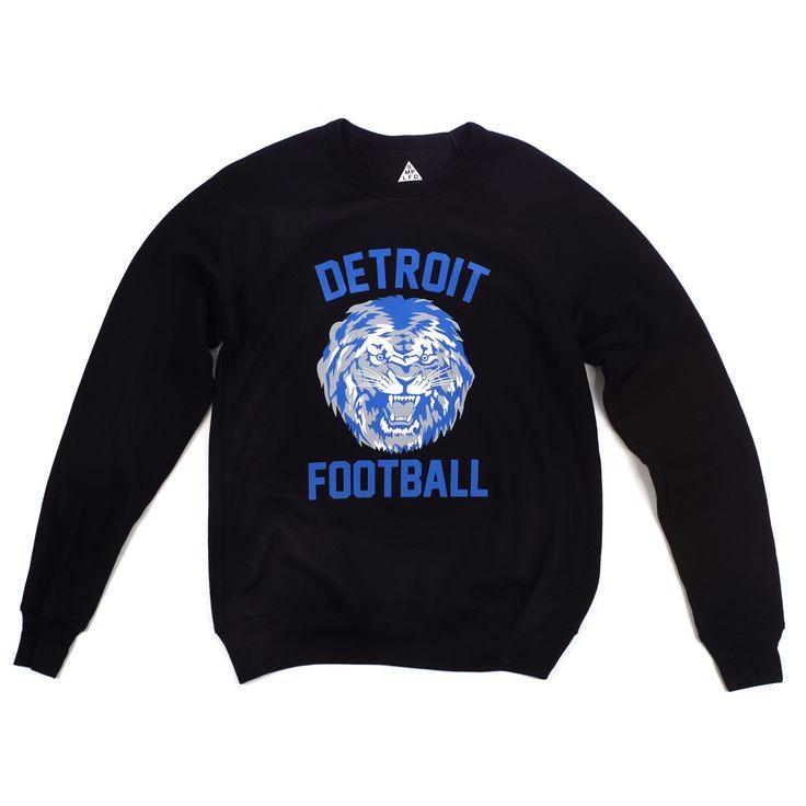 Detroit Football Crewneck | Black