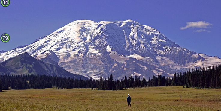 Espectacular y preciosa vista  la que tiene esta mujer del monte Rainier estado de Washington EE UU