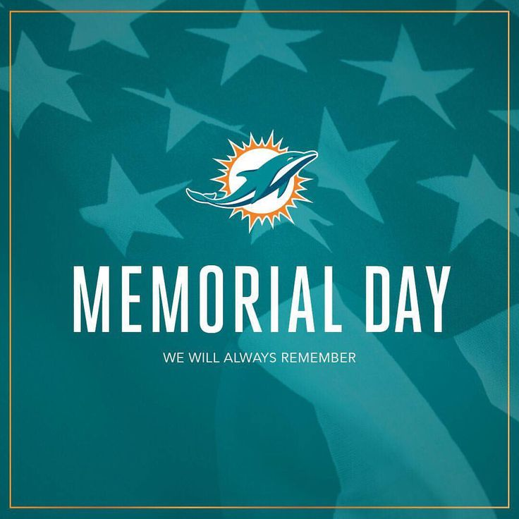 """8,937 Likes, 17 Comments - Miami Dolphins (@miamidolphins) on Instagram: """"Today and every day, we honor the men and women that have sacrificed their lives to protect our…"""""""