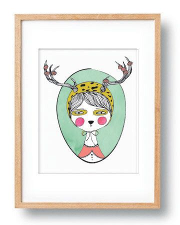 Digital Art Print Whimsical Woodland Creature Kids Wall Art Decor Children's Wall Decor Woodland Theme Bedroom Deer Antlers Whimsical Print by ParadaCreations on Etsy https://www.etsy.com/listing/228714082/digital-art-print-whimsical-woodland