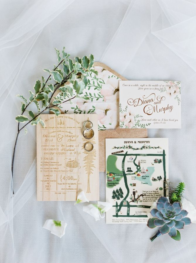whimsically illustrated wedding invitations | image via: style me pretty