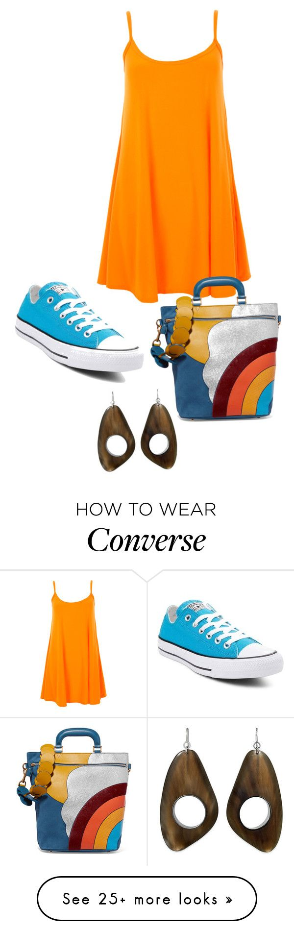 """""""Untitled #4484"""" by bbossboo on Polyvore featuring Converse and Anya Hindmarch"""