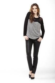 Black top and pant. #tribaljeans #fall2014 #fallstyle #fallfashion #fashion