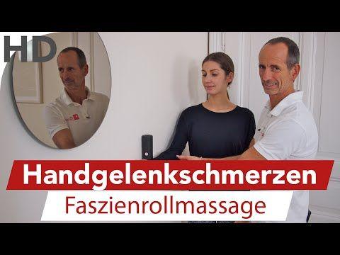Handgelenkschmerzen, Schmerzen im Handgelenk, Faszientraining, Faszien mit der Faszienrollmassage LNB Schmerztherapie