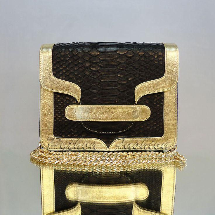 Купить Вечерняя сумочка из кожи питона FLOUNCE - сумочка из кожи питона, модная сумочка