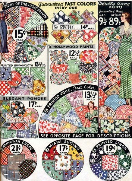 1933 fabric prints1933 Fabrics, 1930S Quilt Pattern, Pretty Prints, Fabrics Prints, Vintage Fabrics, Retro Fabrics, Sewing Ideas, 1930S Fabrics Quilt, 1930S Dresses