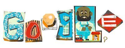 2013.06.15  Google 父の日でお父さんイラストのスロットマシンロゴに!