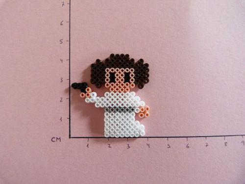 Star Wars Princess Leia hama beads mini by Soledad Hernandez