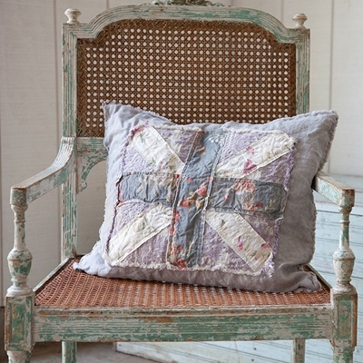 Shabby Chic Union Jack Pillow : 8 best images about Cottage Style on Pinterest Chair slipcovers, Quilt and Tea cups
