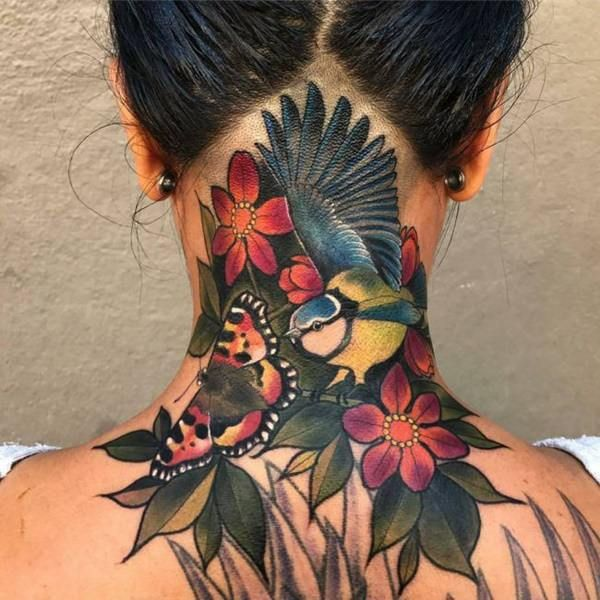 125 Top Neck Tattoo Designs This Year Back Of Neck Tattoo Neck