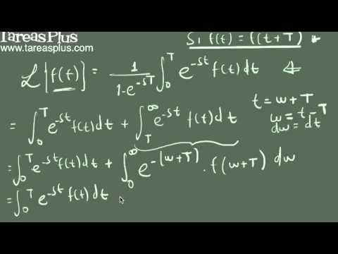 Transformada de laplace de una función periódica parte 1