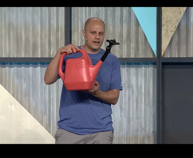 For some reason Google combined an early prototype Vive controller with a watering can. Stardew Valley VR?