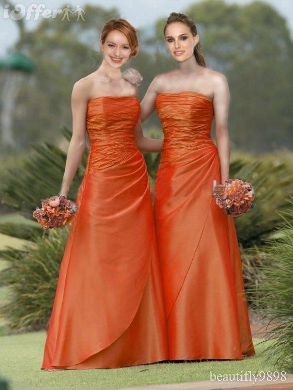 bridesmaid color gorgeous burnt orange my wedding
