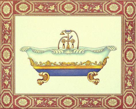 Vasche da bagno III Stampa di Sheila Higton su AllPosters.it