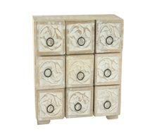 9 draw limed wood unit