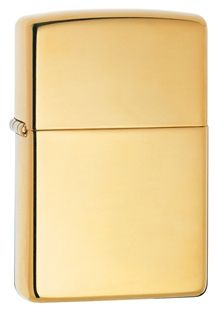 $11,722.95 18k Solid Gold Zippo w/ Cherry wood custom crafted gift box w/Certificate of Registration (Style #195-001-Z)