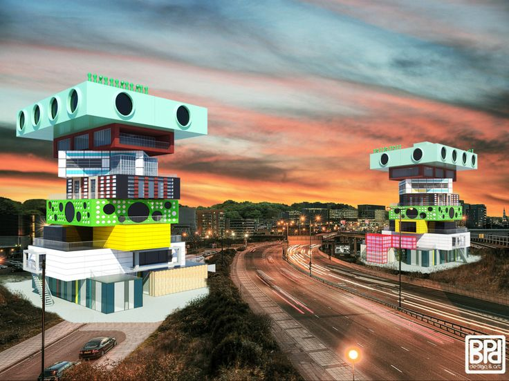 Two Towers - architectural concept of residental buildings